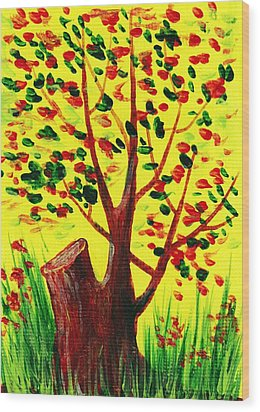 Bright Fall Wood Print by Anastasiya Malakhova