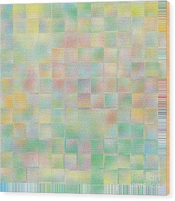 Bright Flowers On A Blue Day Wood Print by Lorraine Heath