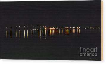 Wood Print featuring the photograph Bright Lights by Megan Dirsa-DuBois