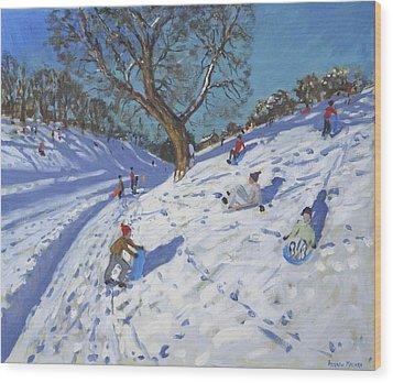 Bright Morning   Chatsworth Wood Print by Andrew Macara