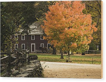 Wood Print featuring the photograph Bright Orange Autumn by Jeff Folger