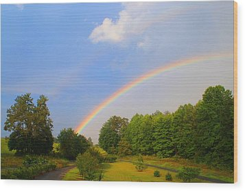 Wood Print featuring the photograph Bright Rainbow by Kathryn Meyer