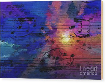 Wood Print featuring the digital art Bright Spot by Lon Chaffin