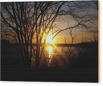 Wood Print featuring the photograph Bright Sunrise by Jason Lees