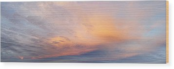 Bright Sunset Sky Wood Print by Les Cunliffe