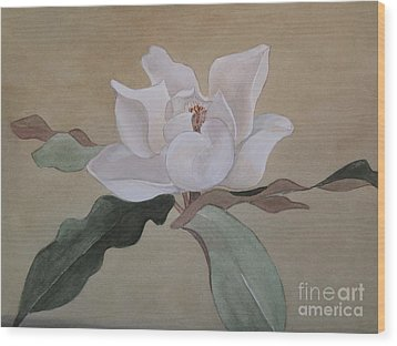 Wood Print featuring the painting Bright White by Nancy Kane Chapman