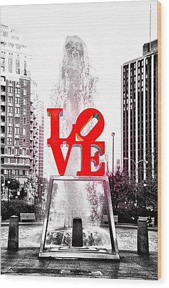 Brightest Love Wood Print by Bill Cannon