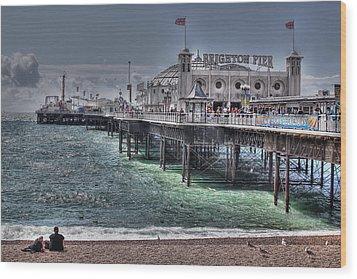 Brighton Pier Wood Print by Jasna Buncic