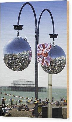 Brighton With Pride Wood Print by Max CALLENDER