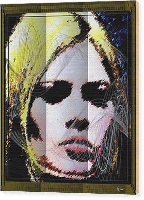 Wood Print featuring the digital art Brigitte Bardot by Daniel Janda