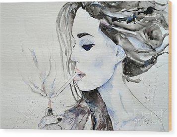 Brigitte Bardot Wood Print by Ismeta Gruenwald