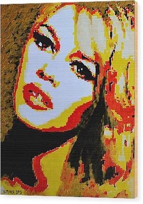 Brigitte Bardot Wood Print by Victor Minca