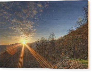 Brilliant Rays Wood Print