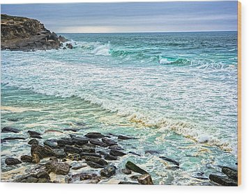 Brilliant Seascape In Portugal Wood Print by Marion McCristall