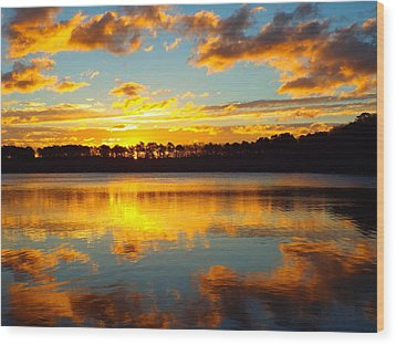 Wood Print featuring the photograph Brilliant Sunrise by Dianne Cowen