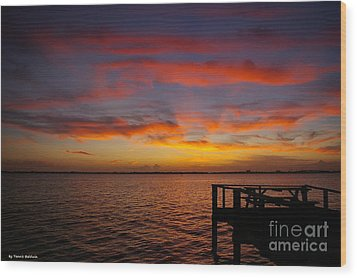 Brilliant Sunset Wood Print by Tannis  Baldwin