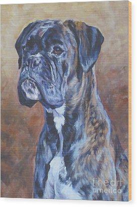 Brindle Boxer Wood Print by Lee Ann Shepard