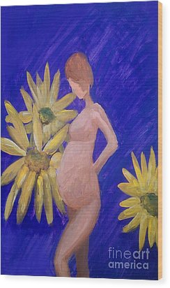 Wood Print featuring the painting Bringer Of Life by Marisela Mungia