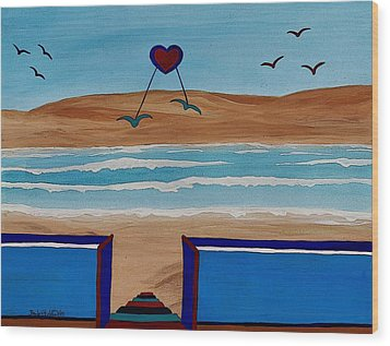 Bringing The Heart Home Wood Print by Barbara St Jean