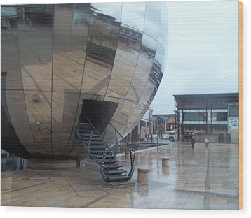Bristol Alien Landing Wood Print by James Potts