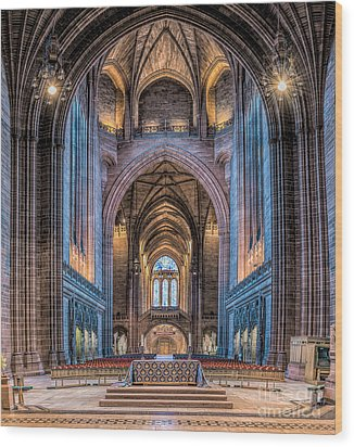 British Cathedral Wood Print by Adrian Evans