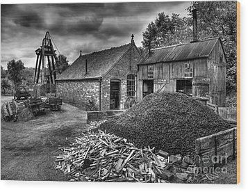 British Mine Wood Print by Adrian Evans