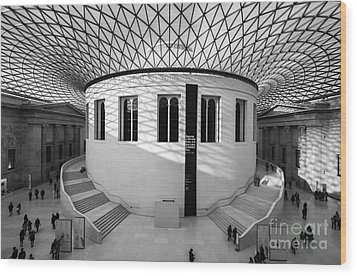 Wood Print featuring the photograph British Museum Black And White by Matt Malloy