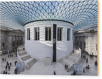 Wood Print featuring the photograph British Museum Color by Matt Malloy