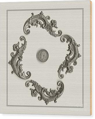 British Shilling Wall Art Wood Print by Joseph Baril