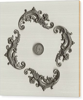 British Shilling Wall Art Version 1 Wood Print by Joseph Baril
