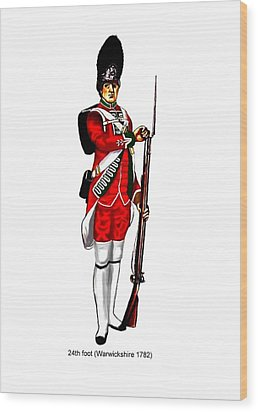 British Uniforms Wood Print by Valiant Knight