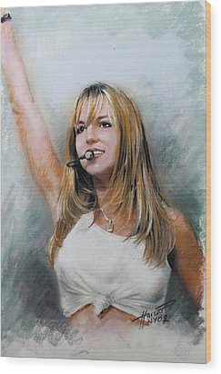 Britney Spears Wood Print by Viola El