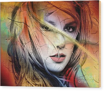 Britney-spears Wood Print by Mark Ashkenazi