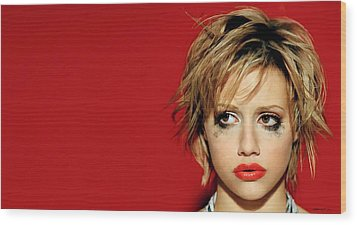 Brittany Murphy Tribute Wood Print