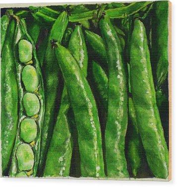 Broad Beans Wood Print by Arual Jay