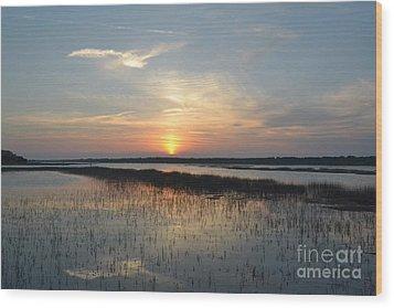 Wood Print featuring the photograph Broad Creek Sunset II by Carol  Bradley