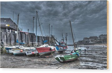Broadstairs Harbour Wood Print