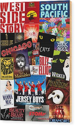 Broadway 1 Wood Print by Andrew Fare