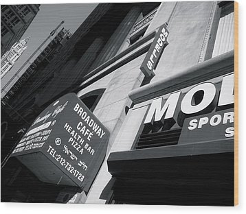 Wood Print featuring the photograph Broadway Cafe by Paul Foutz
