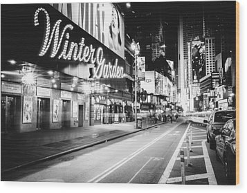 Broadway Theater - Night - New York City Wood Print by Vivienne Gucwa