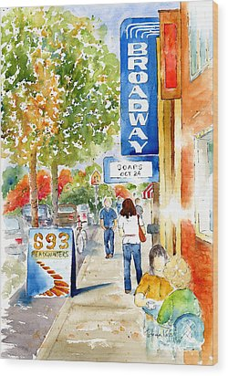 Broadway Theatre - Saskatoon Wood Print