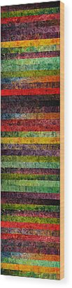 Brocade And Stripes Tower 1.0 Wood Print by Michelle Calkins