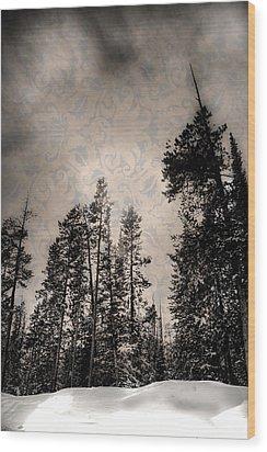 Brocade Sky Wood Print