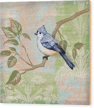 Brocade Songbird II Wood Print by Paul Brent