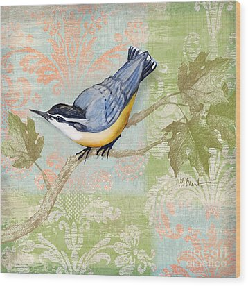 Brocade Songbird IIi Wood Print by Paul Brent