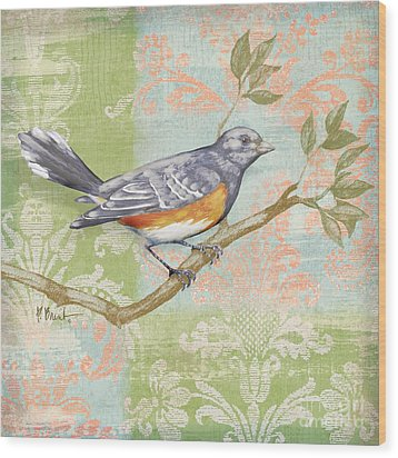 Brocade Songbird Iv Wood Print by Paul Brent