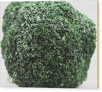 Broccoli Wood Print by John Rizzuto