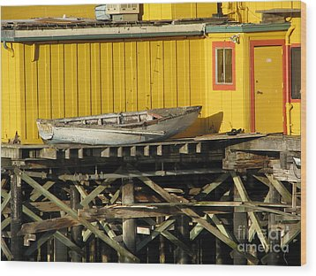 Broken Boat Fisherman's Wharf Wood Print
