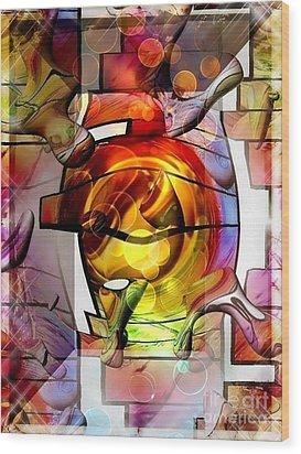 Broken Glass By Nico Bielow Wood Print by Nico Bielow