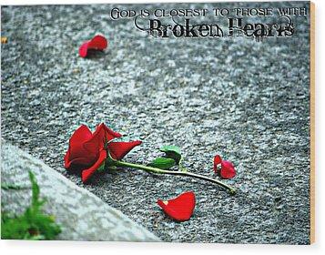 Broken Hearts Wood Print